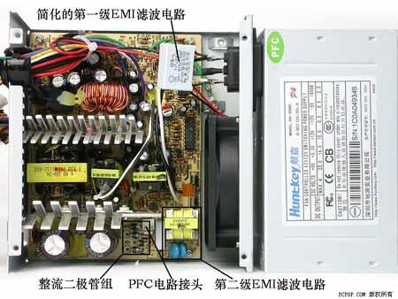 航嘉bs-2000电源所出现的情况与金河田相似.