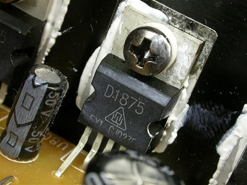 高音通道采用了1875功放芯片.
